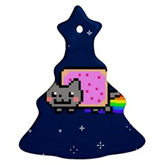 Nyan Cat Christmas Tree Ornament (2 Sides) by Onesevenart