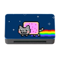 Nyan Cat Memory Card Reader With Cf by Onesevenart
