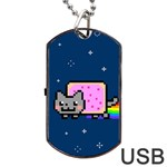 Nyan Cat Dog Tag USB Flash (One Side)