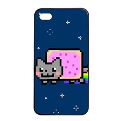 Nyan Cat Apple Iphone 4/4s Seamless Case (black) by Onesevenart