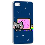 Nyan Cat Apple iPhone 4/4s Seamless Case (White)