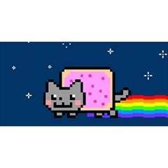 Nyan Cat You Are Invited 3d Greeting Card (8x4) by Onesevenart
