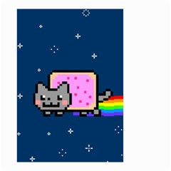 Nyan Cat Small Garden Flag (two Sides) by Onesevenart