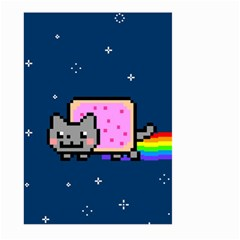 Nyan Cat Large Garden Flag (two Sides) by Onesevenart