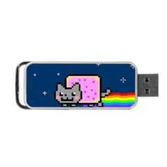 Nyan Cat Portable Usb Flash (two Sides) by Onesevenart
