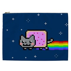 Nyan Cat Cosmetic Bag (xxl)  by Onesevenart