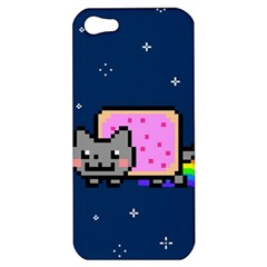 Nyan Cat Apple Iphone 5 Hardshell Case by Onesevenart