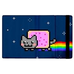 Nyan Cat Apple Ipad 3/4 Flip Case by Onesevenart