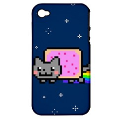 Nyan Cat Apple Iphone 4/4s Hardshell Case (pc+silicone) by Onesevenart