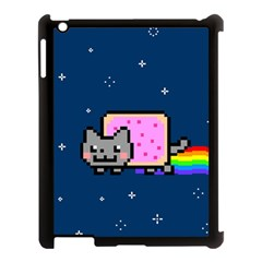 Nyan Cat Apple Ipad 3/4 Case (black) by Onesevenart