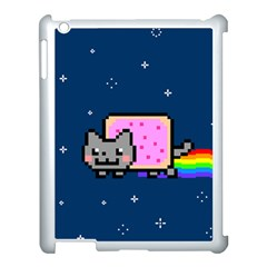 Nyan Cat Apple Ipad 3/4 Case (white) by Onesevenart