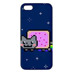 Nyan Cat Apple Iphone 5 Premium Hardshell Case by Onesevenart
