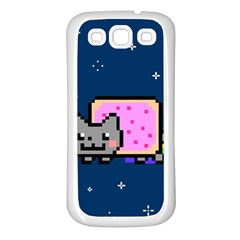Nyan Cat Samsung Galaxy S3 Back Case (white) by Onesevenart