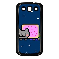 Nyan Cat Samsung Galaxy S3 Back Case (black) by Onesevenart