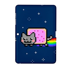 Nyan Cat Samsung Galaxy Tab 2 (10 1 ) P5100 Hardshell Case  by Onesevenart