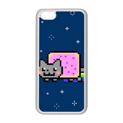 Nyan Cat Apple Iphone 5c Seamless Case (white) by Onesevenart
