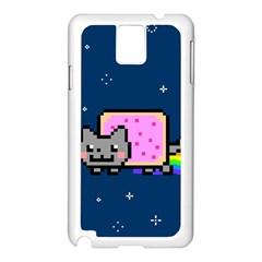 Nyan Cat Samsung Galaxy Note 3 N9005 Case (white) by Onesevenart
