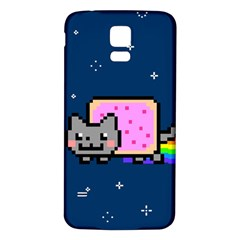 Nyan Cat Samsung Galaxy S5 Back Case (white) by Onesevenart