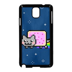 Nyan Cat Samsung Galaxy Note 3 Neo Hardshell Case (black) by Onesevenart