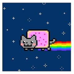 Nyan Cat Large Satin Scarf (square) by Onesevenart