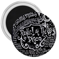 Panic ! At The Disco Lyric Quotes 3  Magnets by Onesevenart