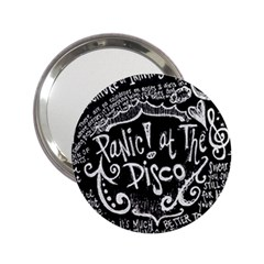 Panic ! At The Disco Lyric Quotes 2 25  Handbag Mirrors by Onesevenart