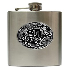 Panic ! At The Disco Lyric Quotes Hip Flask (6 Oz) by Onesevenart