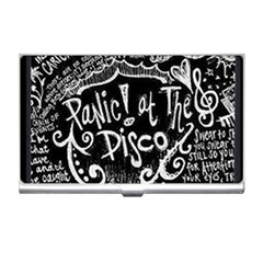 Panic ! At The Disco Lyric Quotes Business Card Holders by Onesevenart