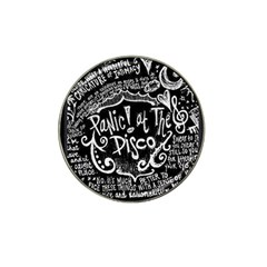 Panic ! At The Disco Lyric Quotes Hat Clip Ball Marker (4 Pack) by Onesevenart