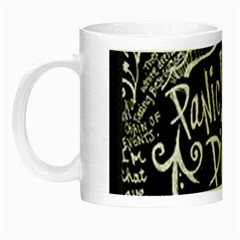 Panic ! At The Disco Lyric Quotes Night Luminous Mugs by Onesevenart