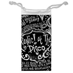 Panic ! At The Disco Lyric Quotes Jewelry Bags by Onesevenart