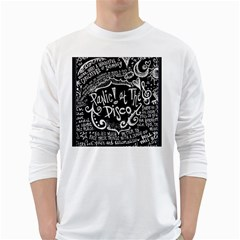 Panic ! At The Disco Lyric Quotes White Long Sleeve T Shirts by Onesevenart
