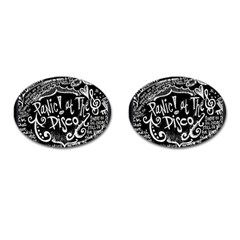 Panic ! At The Disco Lyric Quotes Cufflinks (oval) by Onesevenart