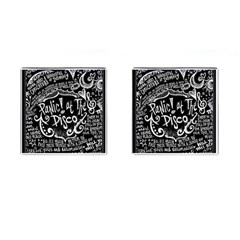 Panic ! At The Disco Lyric Quotes Cufflinks (square) by Onesevenart