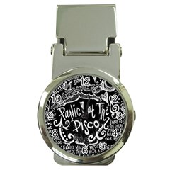 Panic ! At The Disco Lyric Quotes Money Clip Watches by Onesevenart