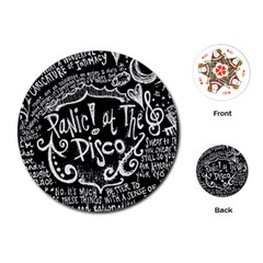 Panic ! At The Disco Lyric Quotes Playing Cards (round)  by Onesevenart