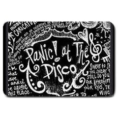 Panic ! At The Disco Lyric Quotes Large Doormat  by Onesevenart