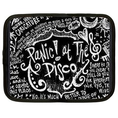 Panic ! At The Disco Lyric Quotes Netbook Case (large) by Onesevenart