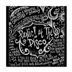 Panic ! At The Disco Lyric Quotes Face Towel by Onesevenart