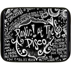 Panic ! At The Disco Lyric Quotes Fleece Blanket (mini) by Onesevenart
