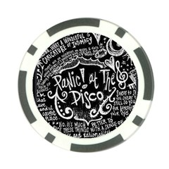 Panic ! At The Disco Lyric Quotes Poker Chip Card Guards (10 Pack)  by Onesevenart