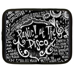 Panic ! At The Disco Lyric Quotes Netbook Case (xl)  by Onesevenart