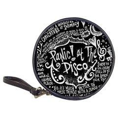 Panic ! At The Disco Lyric Quotes Classic 20 Cd Wallets by Onesevenart