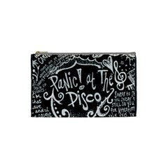 Panic ! At The Disco Lyric Quotes Cosmetic Bag (small)  by Onesevenart