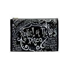 Panic ! At The Disco Lyric Quotes Cosmetic Bag (medium)  by Onesevenart