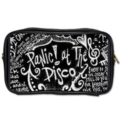 Panic ! At The Disco Lyric Quotes Toiletries Bags by Onesevenart