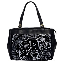 Panic ! At The Disco Lyric Quotes Office Handbags by Onesevenart