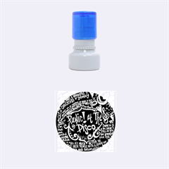 Panic ! At The Disco Lyric Quotes Rubber Round Stamps (small) by Onesevenart