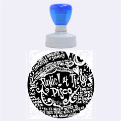Panic ! At The Disco Lyric Quotes Rubber Round Stamps (large) by Onesevenart
