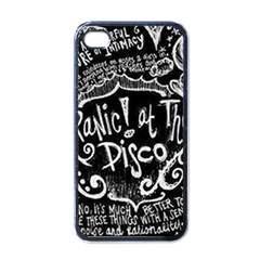 Panic ! At The Disco Lyric Quotes Apple Iphone 4 Case (black) by Onesevenart